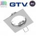 Потолочный светильник/корпус, GTV, встраиваемый, не регулируемый угол, алюминиевый, квадратный, хром, PORTO. ЕВРОПА!