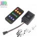 Контроллер  музыкальный для RGB-Magic светодиодных лент, модулей, LED NEON, 5-12V, до 600 пикселей. Пульт RF