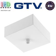 Крышка маскировочная квадратная, для подвесных светильников, пластиковая, белая. ЕВРОПА!