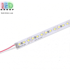 Светодиодная алюминиевая линейка 12V, 2835, 144 led/m, 13W, IP20, 6500K - белый холодный, Standart, однорядная. Гарантия - 12 месяцев