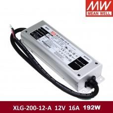 Блок питания 6-12V, 16A, 192W, Mean Well, XLG-200-12-A, алюминиевый корпус, IP67, герметичный, для наружного применения. Гарантия - 2 года.