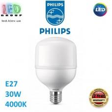 Светодиодная LED лампа Philips, 30W, E27, G3, 4000К - нейтральное свечение, 4000Lm, промышленная, TForce Core Highbay 840, Ra≥80. Гарантия - 2 года