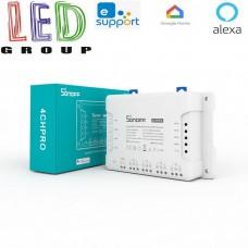 Sonoff 4ch PRO R3, четырёхканальный дистанционный выключатель Wi-Fi, 433 МГц, 220V / DC 5-24V, 10A, на DIN-рейку