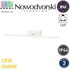 Настенный светодиодный LED светильник, Nowodvorski VAN GOGH LED L 9175, 18W, 3000K, IP44, накладной, алюминий + РС, белый, RA≥80. ЕВРОПА!