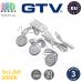 Комплект светодиодных LED светильников GTV, 3шт., 1.8W, 3000K, круглые, пластиковые, цвета матовый хром, LUGO. ЕВРОПА! Гарантия - 3 года