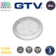 Светодиодный LED светильник GTV, 0.8W, 3000K, 12V, накладной, круглый, пластиковый, цвета матовый хром, ISLA. ЕВРОПА! Гарантия - 3 года