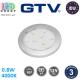Светодиодный LED светильник GTV, 0.8W, 4000K, 12V, накладной, круглый, пластиковый, цвета матовый хром, ISLA. ЕВРОПА! Гарантия - 3 года
