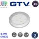 Светодиодный LED светильник GTV, 0.8W, 6400K, 12V, накладной, круглый, пластиковый, цвета матовый хром, ISLA. ЕВРОПА! Гарантия - 3 года