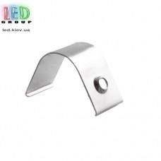 Клипса монтажная для алюминиевого профиля LD-120, металлическая.