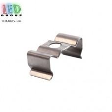 Клипса монтажная для алюминиевого профиля LD-124, металлическая.