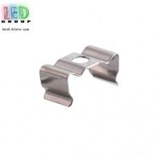 Клипса монтажная для алюминиевого профиля LD-136, металлическая.