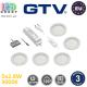 Комплект светодиодных LED светильников GTV, 5шт., 2.8W, 3000K, круглые, пластиковые, цвета матовый хром, CASTELLO. ЕВРОПА! Гарантия - 3 года