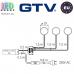 Комплект светодиодных LED светильников GTV, 3шт., 1.8W, 6400K, круглые, пластиковые, цвета хром, LUGO. ЕВРОПА! Гарантия - 3 года