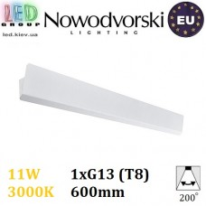 Настенный светодиодный светильник, Nowodvorski WING LED 9295, 11W, 3000K, накладной, поворотный, прямоугольный, белый, стальной, лампа в комплекте. ЕВРОПА!!!