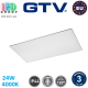 Светодиодная LED панель GTV, 24W (EMC+), 4000К, IP44, алюминиевая, прямоугольная, белая, Ra≥80, KING. ЕВРОПА! Гарантия - 3 года