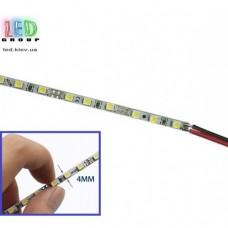 Светодиодная текстолитовая линейка 12V, 4мм, 2835, 72 led/m, 16W, IP20, 6500K - белый холодный, Standart. Гарантия - 12 месяцев