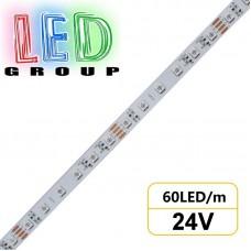 Светодиодная лента 24V, 5050, 60led/m, 14.4W, IP20, RGB (16 млн. оттенков), Standart. Гарантия - 12 месяцев