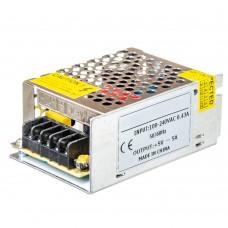 Блок питания 5V, 25W, 5А, металлический корпус, IP20, не герметичный, для внутреннего применения