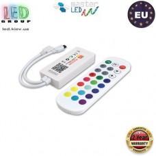 Контроллер/диммер master LED для светодиодных лент 5-24V RGB, 6А, mini. Wi-Fi, голосовое управление Alexa. C пультом IR, 3 канала по 2A. Европа!