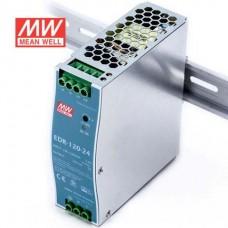 Блок питания 24V, 5A, 120W, Mean Well, EDR-120-24, пластиковый корпус, IP20, внутренний. На дин рейку. Гарантия - 3 года.
