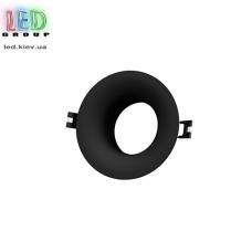Светильник/корпус потолочный, 1хGU10, встраиваемый, точечный, пластиковый, круглый, чёрный, Ø86x40мм