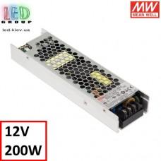 Блок питания 12V, 16.7A, 200.4W, Mean Well, UHP-200-12, металлический корпус, IP20, для внутреннего применения. Гарантия - 3 года.