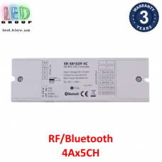 Контроллер/диммер SUNRICHER, RF/Bluetooth для RGB, RGBW, CCT(Мультивайт) лент, 4Aх5CH