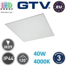 Светодиодная LED панель GTV, 40W, 4000К, IP44, толщина - 10мм, Ra≥80. ЕВРОПА!!! Гарантия - 3 года