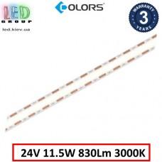 Светодиодная лента COLORS, 24V, COB (сплошное свечение), 11.5W, IP20, 3000K - белый тёплый, Premium. Гарантия - 3 года