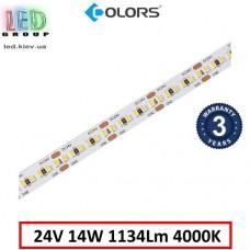 Светодиодная лента COLORS, 24V, SMD 2216, 300 led/m, 14W, IP20, 4000K - белый нейтральный, Premium. Гарантия - 5 лет