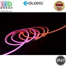 Светодиодный гибкий неон COLORS, 24V, LED NEON - 12x13мм, цвет свечения - RGB. Гарантия - 2 года