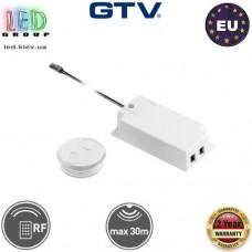 Дистанционный радиоуправляемый выключатель GTV, накладной, 60W, 12V, белый. ЕВРОПА!!! Гарантия -2 года!