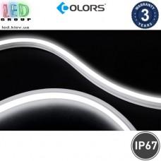 Светодиодный гибкий неон COLORS, 24V, LED NEON - 12x6мм, цвет свечения - белый тёплый. Гарантия - 3 года