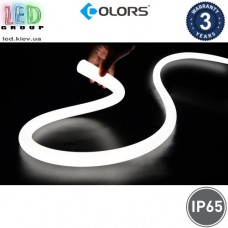 Светодиодный гибкий неон COLORS, круглый 360°, 24V, LED NEON - Ø25мм, цвет свечения - белый нейтральный. Гарантия - 3 года