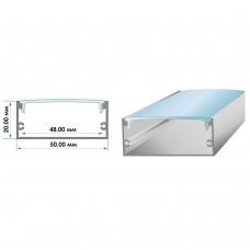 Комплект: профиль алюминиевый АНОДИРОВАННЫЙ ЛП-50 с рассеивателем (2 метра профиля + 2 метра светорассеивателя)