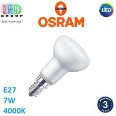 Светодиодная LED лампа OSRAM, 7W, E27, R63, 4000К - нейтральное свечение. Гарантия - 3 года