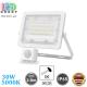 Светодиодный LED прожектор, 30W, 5000K, IP65, с датчиком движения и освещения, алюминий, накладной, белый, RA≥80