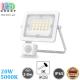 Светодиодный LED прожектор, 20W, 5000K, IP65, с датчиком движения и освещения, алюминий, накладной, белый, RA≥80