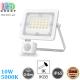 Светодиодный LED прожектор, 10W, 5000K, IP65, с датчиком движения и освещения, алюминий, накладной, белый, RA≥80
