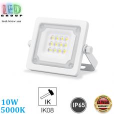 Светодиодный LED прожектор, 10W, 5000K, IP65, алюминий, накладной, белый, RA≥80