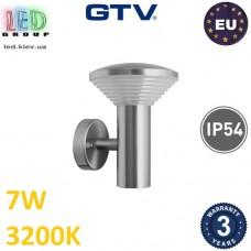 Светодиодный LED светильник GTV, 7W, 3200K, IP54, 500Lm, накладной, нержавеющая сталь, цвета хром, Ra≥80, ORBIT-A. ЕВРОПА! Гарантия – 3 года