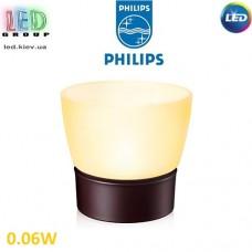 Светодиодный LED светильник Philips, 0.06W, переносной, коричневый, Retreat LED Candle. Распродажа. Повреждена упаковка.