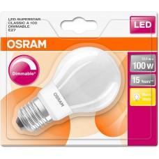 Светодиодная LED лампа OSRAM 12W, E27, A60, 2700К - тёплое свечение, диммируемая. Гарантия - 2 года.