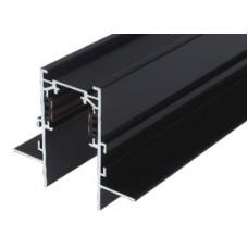 Шинопровод магнитный врезной под гипсокартон MLTSE-EMT510/B, 1м, чёрный, для 3-фазной магнитной трековой системы