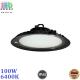 Светодиодный светильник-прожектор, 100W, 6400K, IP65, высотный, подвесной, алюминий + пластик, чёрный, круглый, HIGH BAY, Ra≥80. Гарантия - 2 года