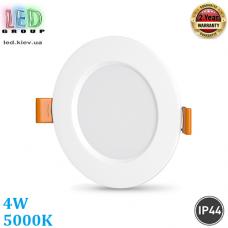 Светодиодный светильник 4W, 5000K, IP44, встроенный, круглый, белый, RA≥80