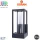Светильник/корпус Osram, фасадный, 1xE27, IP44, алюминий + стекло, тёмно-серый, ENDURA CLASSIC FRAME WALL DG