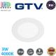Светодиодный светильник GTV, 3W (EMC+), 4000K, IP44, потолочный, встраиваемый, круглый, алюминиевый, белый, Ra≥80, ORIS PLUS. ЕВРОПА! Гарантия - 2 года