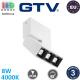 Светодиодный LED светильник GTV, 8W (EMC+), 4000K, накладной, прямоугольный, алюминиевый, белый, Ra≥80, SIERRA. ЕВРОПА! Гарантия - 3 года