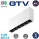 Светодиодный LED светильник GTV, 15W (EMC+), 4000K, накладной, прямоугольный, алюминиевый, белый, Ra≥80, ARTEMIDA. ЕВРОПА! Гарантия - 3 года